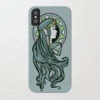 zelda iPhone & iPod Cases featuring Zelda Nouveau by Karen Hallion Illustrations