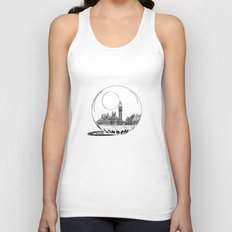 London in a glass ball Unisex Tank Top
