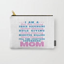 SUPERHERO MOM Carry-All Pouch