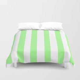 Vintage Victorian Style Light Green Stripes Duvet Cover