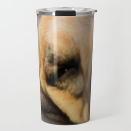 Where the couch ends...the dog begins Travel Mug