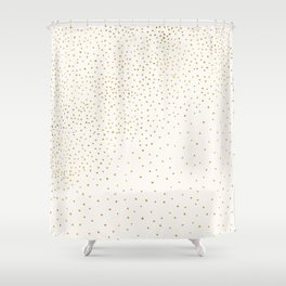 Falling Stars - Metallic Gold Shower Curtain