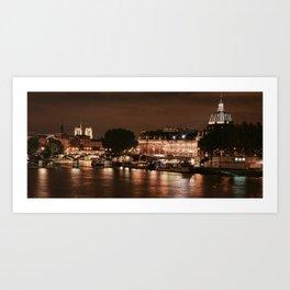 Paris sur la Seine Art Print