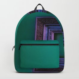 Wall of Faceless Decor- Mint/Purple Backpack