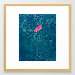 Kite surfer in Lefkada, Greece Framed Art Print