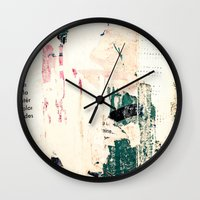 movie posters Wall Clocks featuring Posters by Patterns and Textures
