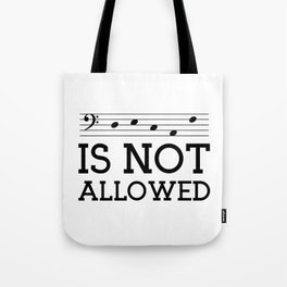 Decaf is not allowed (bass version) Tote Bag