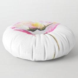 Poppy flower Floor Pillow