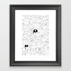 Cats Mats Framed Art Print