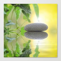 stone Canvas Prints featuring Stone by pf_photography