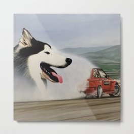 Andy Hateley and Wolf Gonzo Metal Print