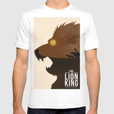 The Lion King Mens Fitted Tee MEDIUM White