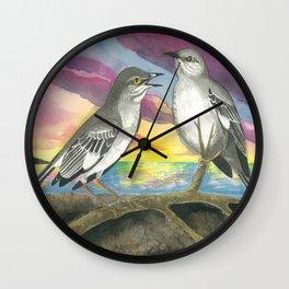 Northern Mockingbird Wall Clock