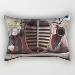 Truck Grill, Old Truck, Old Truck Grill Rectangular Pillow