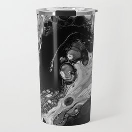Monochrome Lava Flow Cells Travel Mug