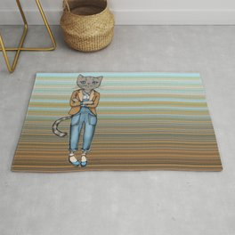 Hipster Kitty Cool Rug