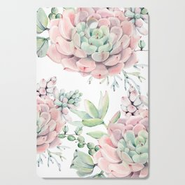 Pink Succulents by Nature Magick Cutting Board