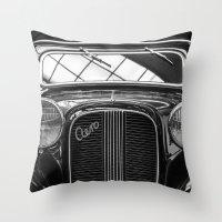 car Throw Pillows featuring Car by Veronika