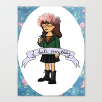 daria Canvas Prints featuring Daria by Aliyahtakespictures
