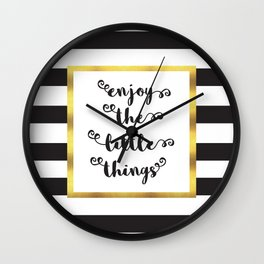 The Little Things Quote Wall Clock