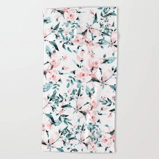 Flowers pattern 1 Beach Towel