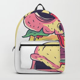 Burger as dead skulls Backpack