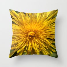 Yellow Love Throw Pillow