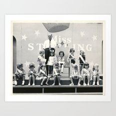 Miss Sterling Contestants Art Print