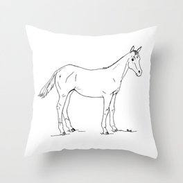 Charlie Horse Throw Pillow