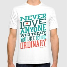 Never Ordinary - Oscar Wilde Mens Fitted Tee White MEDIUM