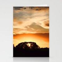 swedish Stationery Cards featuring Swedish sunset by Mark W
