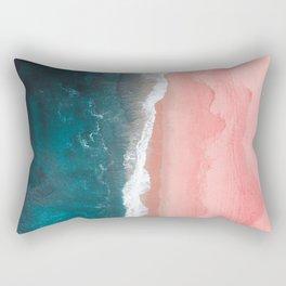 Turquoise Sea Pastel Beach Rectangular Pillow