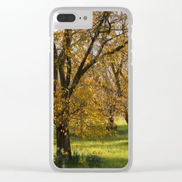 Autumn in the Orchard Clear iPhone Case
