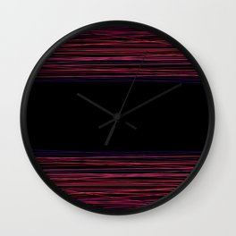 Red thread , abstract Wall Clock