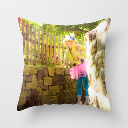 Skylar in Wonderland Throw Pillow