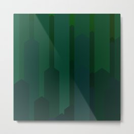 cubescape_greenspace Metal Print