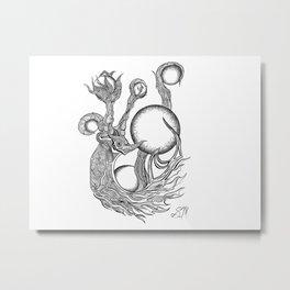 Orbs Metal Print