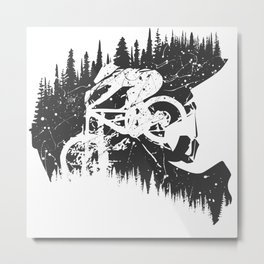 Black Fullface Metal Print