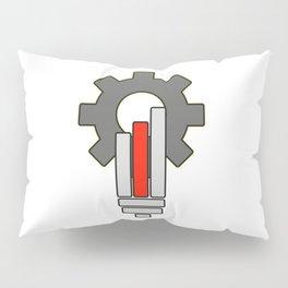 Gear bulb shaped - Vector Pillow Sham