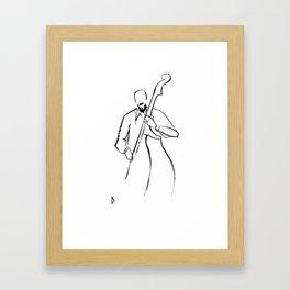 Jazz Contrabass Minimalism Framed Art Print