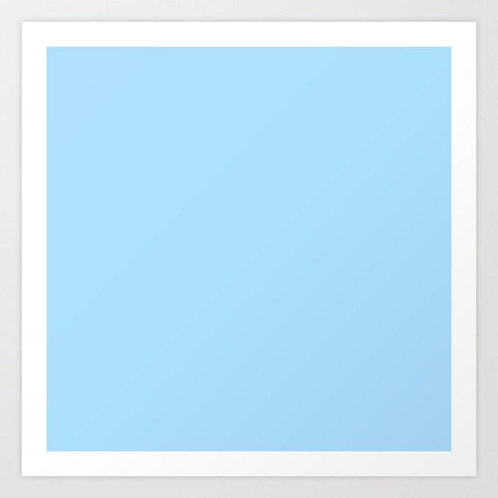 Solid Pale Light Blue Color Kunstdrucke