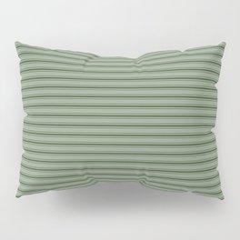 Small Dark Forest Green Mattress Ticking Bed Stripes Pillow Sham