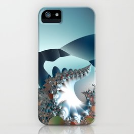 On the Edge of a Fantasy Landscape -- fractal art by Twigisle at Society6 iPhone Case