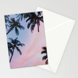 Palm Trees Sunset III / Kihei, Hawaii Stationery Cards