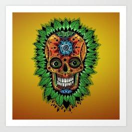 mexican skulls wanna-be (2014) Art Print