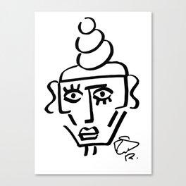 Faire Visage No 48 Canvas Print