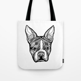 Cosmic Boston Terrier Tote Bag