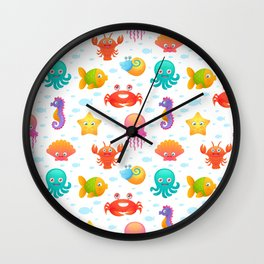 Sea members Wall Clock