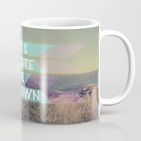 explore Mugs featuring EXPLORE by AA Morgenstern