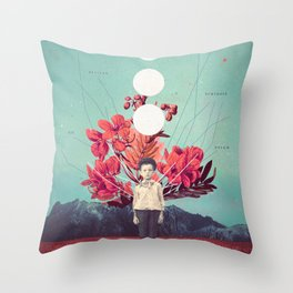 Standing at the Threshold of Time Throw Pillow